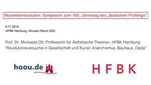 "Thumbnail - Novemberrevolution: Symposion zum 100. Jahrestag des ""deutschen Frühlings"" - Prof. Dr. Michaela Ott"