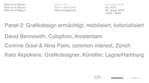 Thumbnail - Point of No Return: Point of Departure - Panel 2: Design ermächtigt, mobilisiert, kolonialisiert