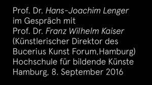 Thumbnail - Im Gespräch: Hans-Joachim Lenger und Franz Wilhelm Kaiser, Sept. 2016